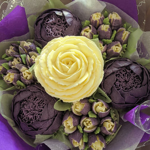 Vibrant Purple Cupcake Bouquet