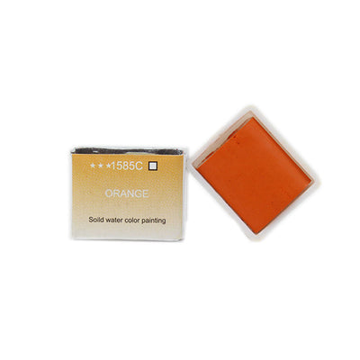 Watercolour Half Pan Refill - Orange