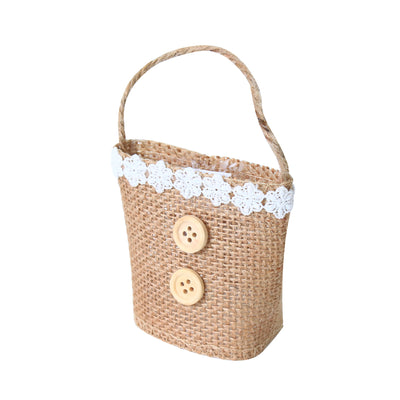 Jute Gift Bag with Lace