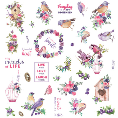 Ephemera Embellishments - Birds And Berries, 70Pc
