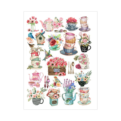 Deco Transfer Sheet - Teatime Melodies, 10inch X 7.5inch