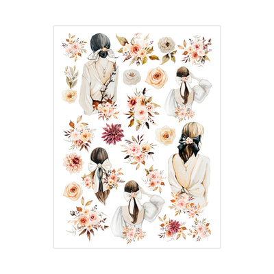 Deco Transfer Sheet - Blooms and Beauty, 10inch X 7.5inch