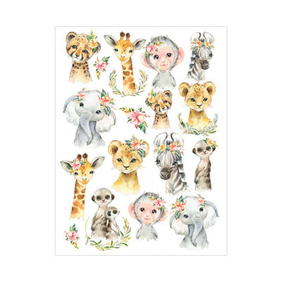 Deco Transfer Sheet - Animal Adore, 10inch X 7.5inch