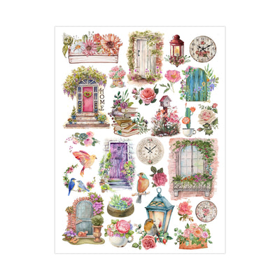 Deco Transfer Sheet - Doors & windows, 10inch X 7.5inch
