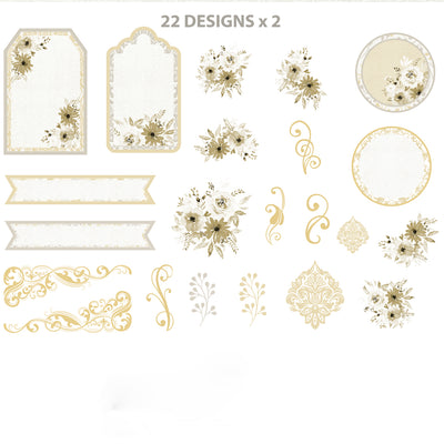 Ephemera Embellishments - Amor Mio, 44Pc