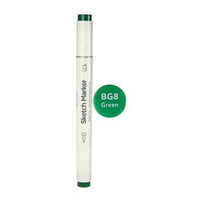 Dual Tip Alcohol Based Sketch Marker - Green, 1pc