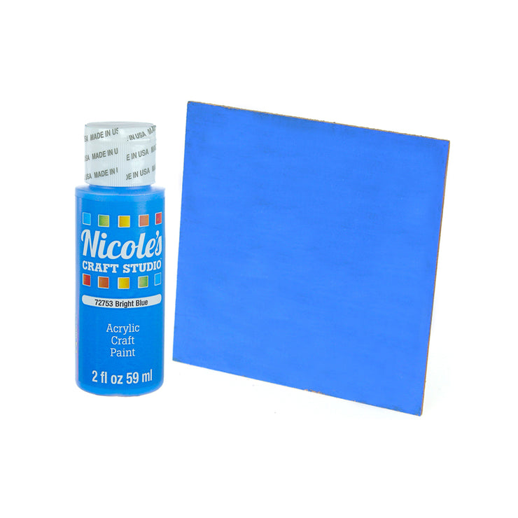 Acrylic Craft Paint - Bright Blue, 59ml, 1 bottle
