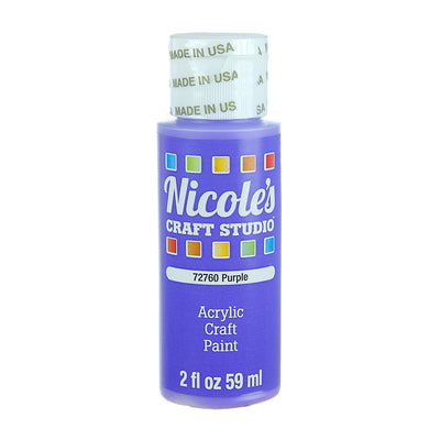 Acrylic Craft Paint - Purple, 59ml, 1 bottle