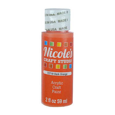Acrylic Craft Paint - Dark Orange, 59ml, 1 bottle