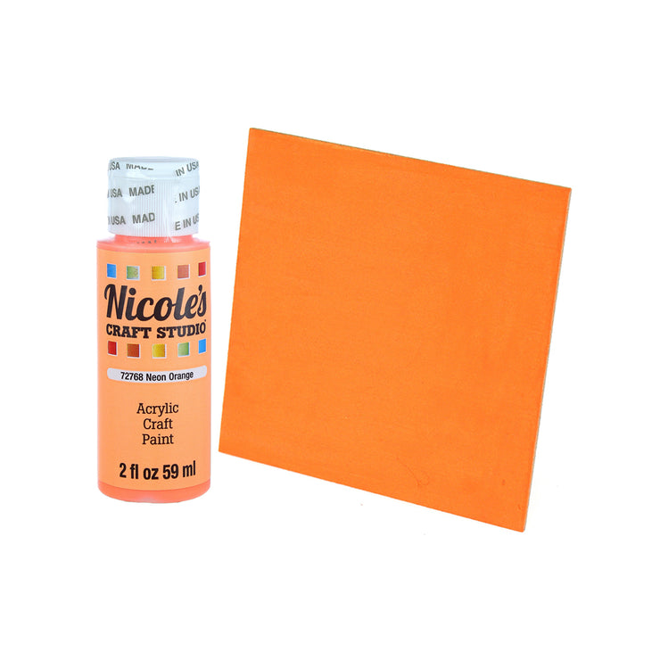 Acrylic Craft Paint - Neon Orange, 59ml, 1 bottle