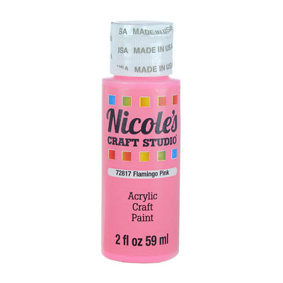 Acrylic Craft Paint - Flamingo Pink, 59ml, 1 bottle