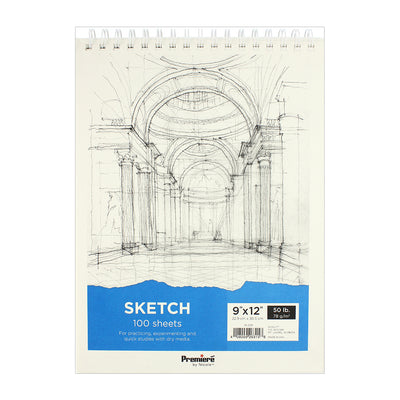 Sketch Pad - 9in x 12in, 78gsm, 100 sheets, 1pc
