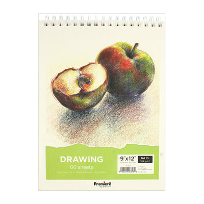 Drawing Pad - 9in x 12in, 60 sheets, 104 gsm, 1pc