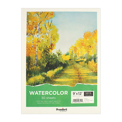 Watercolor Pad - 9in x 12in, 30 sheets, 300gsm, 1 pc