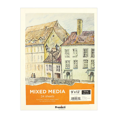 Mixed Media Pad - 9in x 12in, 24 sheets, 160 gsm, 1pc