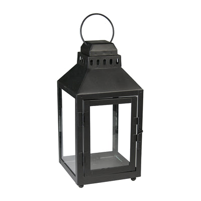 Hanging Lantern - Black, 4.8in x 4.8in x 10in, 1pc
