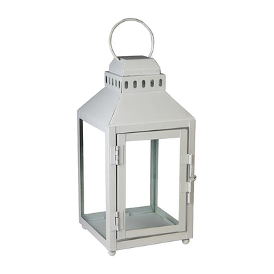 Hanging Lantern - White, 4.8in x 4.8in x 10in, 1pc