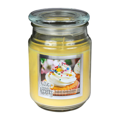 Scented Jar Candle - Sweet Buttercream, Large, 1pc