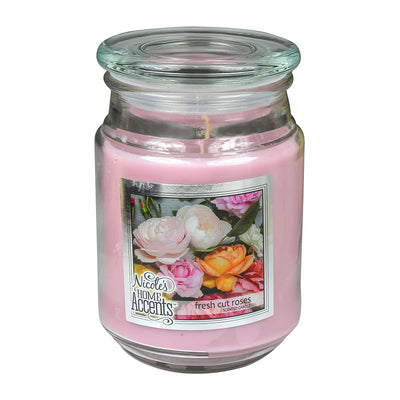 Scented Jar Candle - Fresh Cut Roses, Large, 1pc