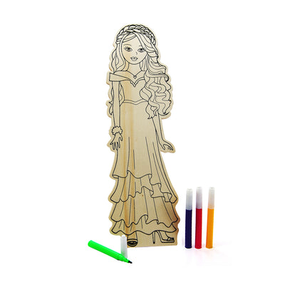 Colour Your Own Wooden Doll Kit - Fairy, 29.2cm, 1 pack