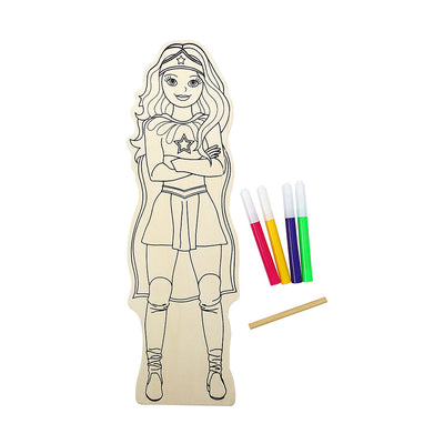 Colour Your Own Wooden Doll Kit - Super Woman, 29.2cm, 1 pack