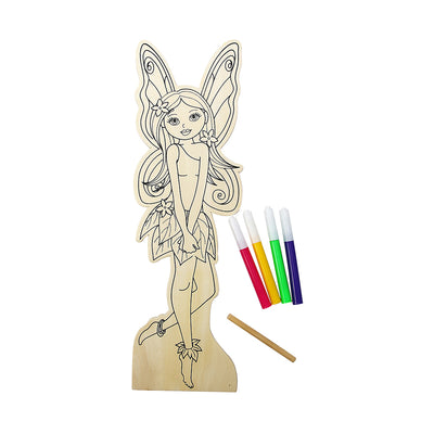 Colour Your Own Wooden Doll Kit - Beautiful Girl , 29.2cm, 1 pack