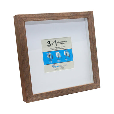 3-in-1 Dimensional Wood Frame - 8in x8in, 1pc