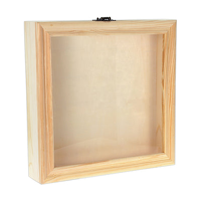 Wooden Memory Shadow Box - 12in x 12in (30.4cm x 30.4cm), 1pc