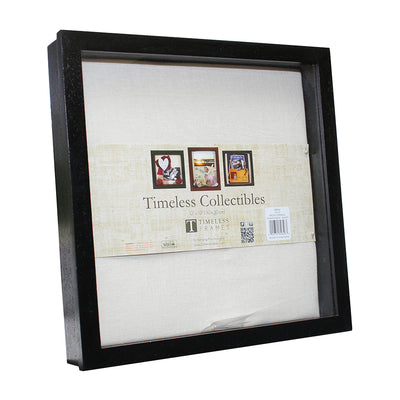 Front Opening Shadow Box - Black, 12in x 12in, 1pc