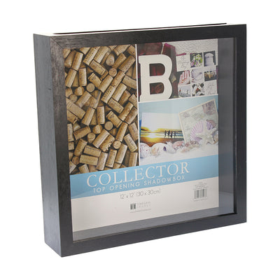 Collector Top Opening Shadow Box - Black, 12in x 12in (30cm x 30cm), 1pc