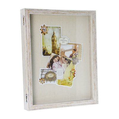 Wooden Front Opening Shadow Box - Light Brown, 11in x 14in, 1pc