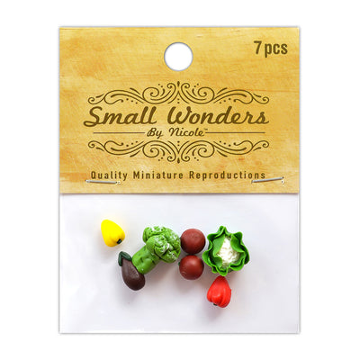 Miniature Assorted Vegetables - 7pc- (9 CM)