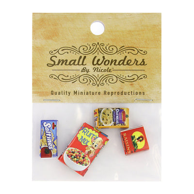 Miniature Food Boxes, 13/16in (2cm), 4pc