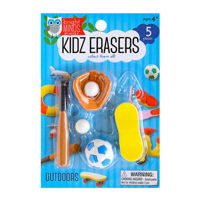Fun Kidz Erasers - Outdoor Sports, 5pc