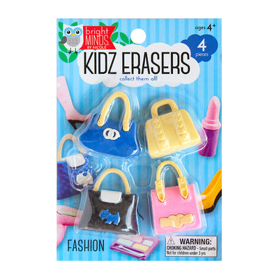 Fun Kidz Erasers - Hand Bags, 4pc
