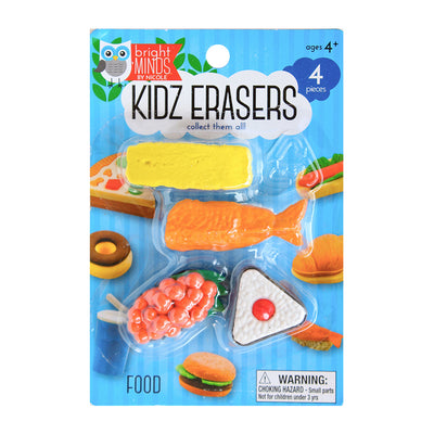 Fun Kidz Erasers - Japanese Food, 4pc