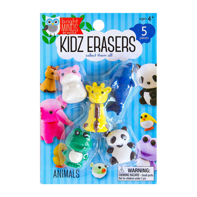 Fun Kidz Erasers - Animals, 5pc
