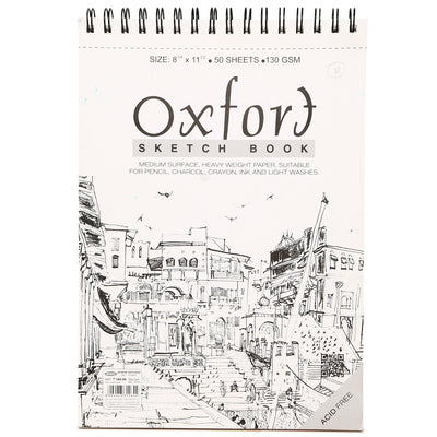Oxford Sketch Book- A4, Wire-O Bound, 130GSM, 50 sheets