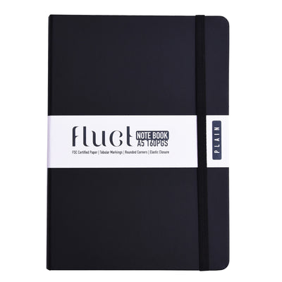 Fluct Plain Notebook With Elastic Closure- A5, 160pages