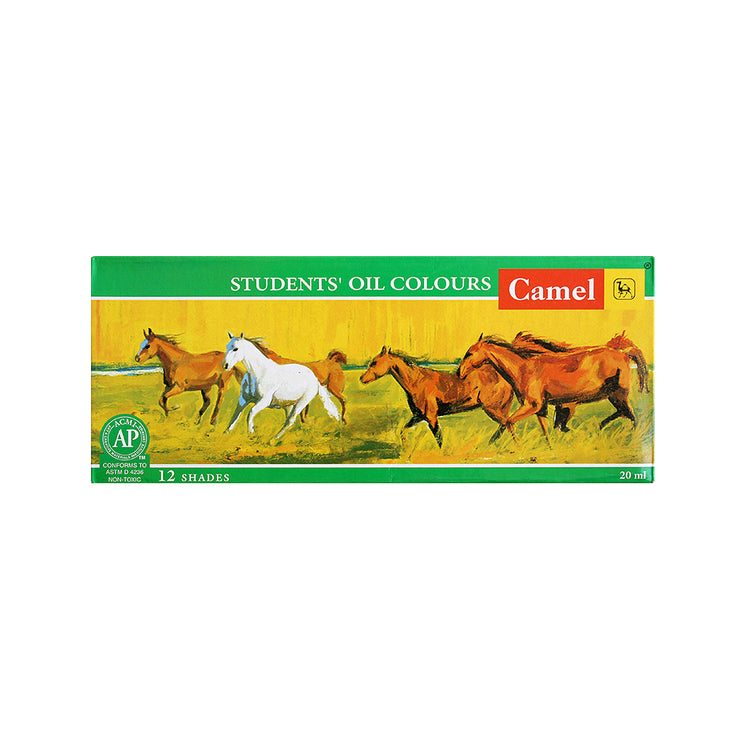 Camel Students Oil Colours Set - 12 shades of 20ml each