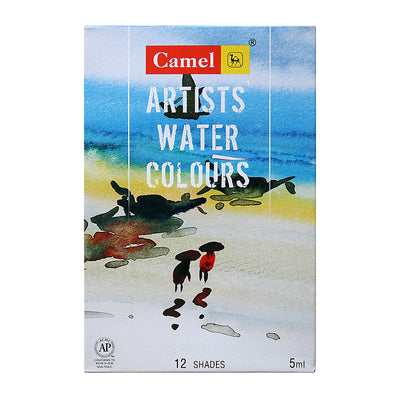 Camel Artists Water Colours Set - 12  Assorted Shades 5ml