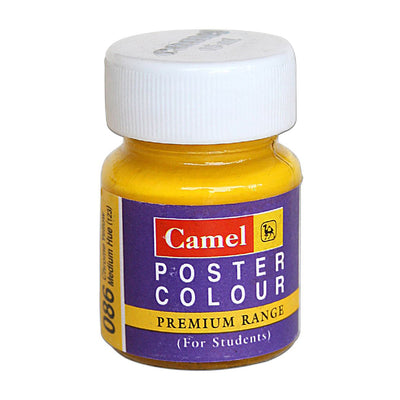 Camel Premium Range Poster Colour 15ml - Chrome Yellow Medium Hue, 1pc