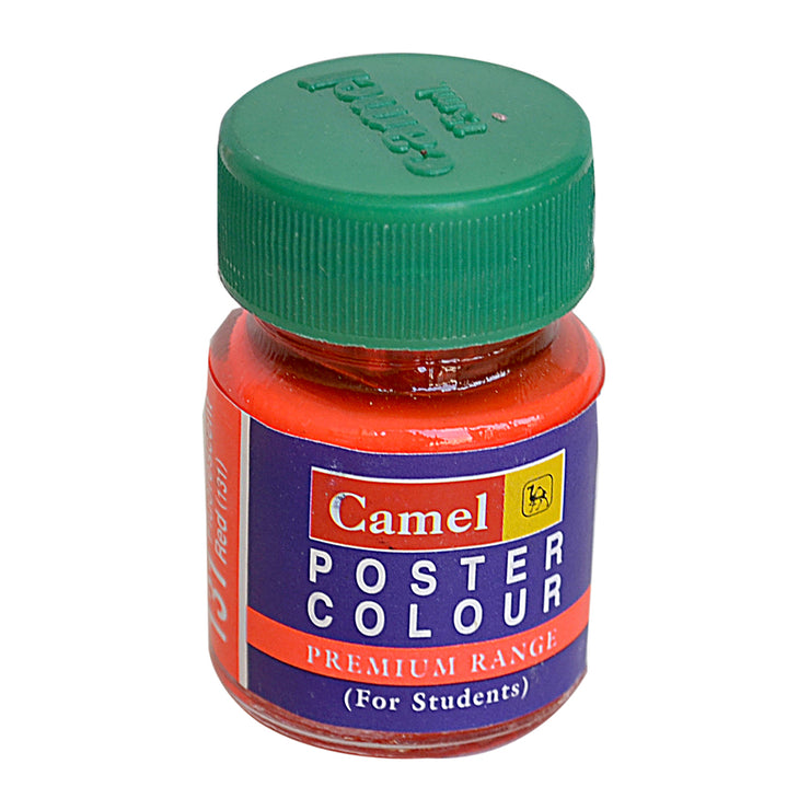 Camel Premium Range Poster Colour 15ml - Fluorescent Red