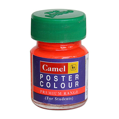 Camel Premium Range Poster Colour 15ml - Fluorescent Orange