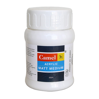 Camel Acrylic Matt Medium - 500ml, 1pc