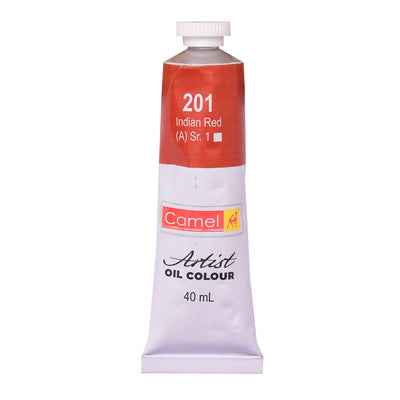 Camlin Artists Oil Colour 40Ml Tube- Indian Red