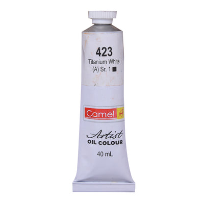 Camlin Artists Oil Colour 40Ml Tube- Titanium White