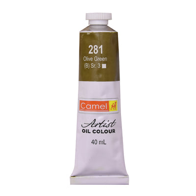 Camlin Artists Oil Colour 40Ml Tube- Olive Green