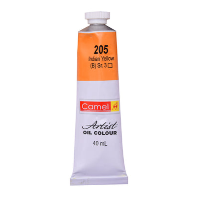 Camlin Artists Oil Colour 40Ml Tube- Indian Yellow