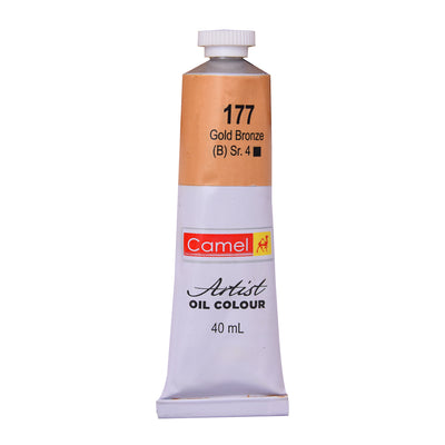 Camlin Artists Oil Colour 40Ml Tube- Gold Bronze